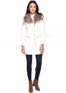 Via Spiga Asymmetrical Zip Coat