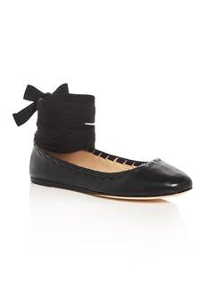 Via Spiga Baylie Ankle Tie Ballet Flats
