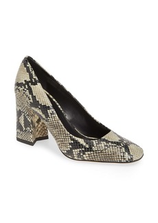 Via Spiga Beatrice Snakeskin Embossed Pump (Women)