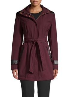 Via Spiga Belted Rain Coat