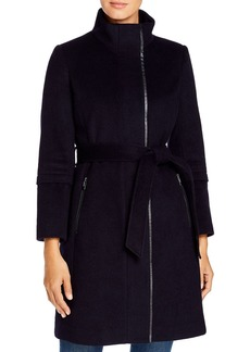 Via Spiga Belted Wool-Blend Coat