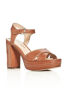 Via Spiga Brianna Crisscross High Heel Platform Sandals