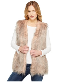 Via Spiga Collarless Feather Vest