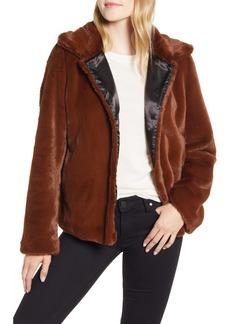 Via Spiga Crop Faux Fur Jacket