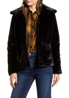 Via Spiga Crop Faux Fur Jacket