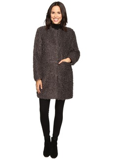 Via Spiga Curly Faux Fur Coat
