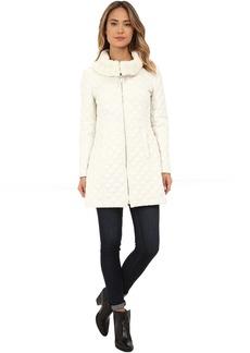 Via Spiga Diamond Quilt Coat w/ Knit Collar