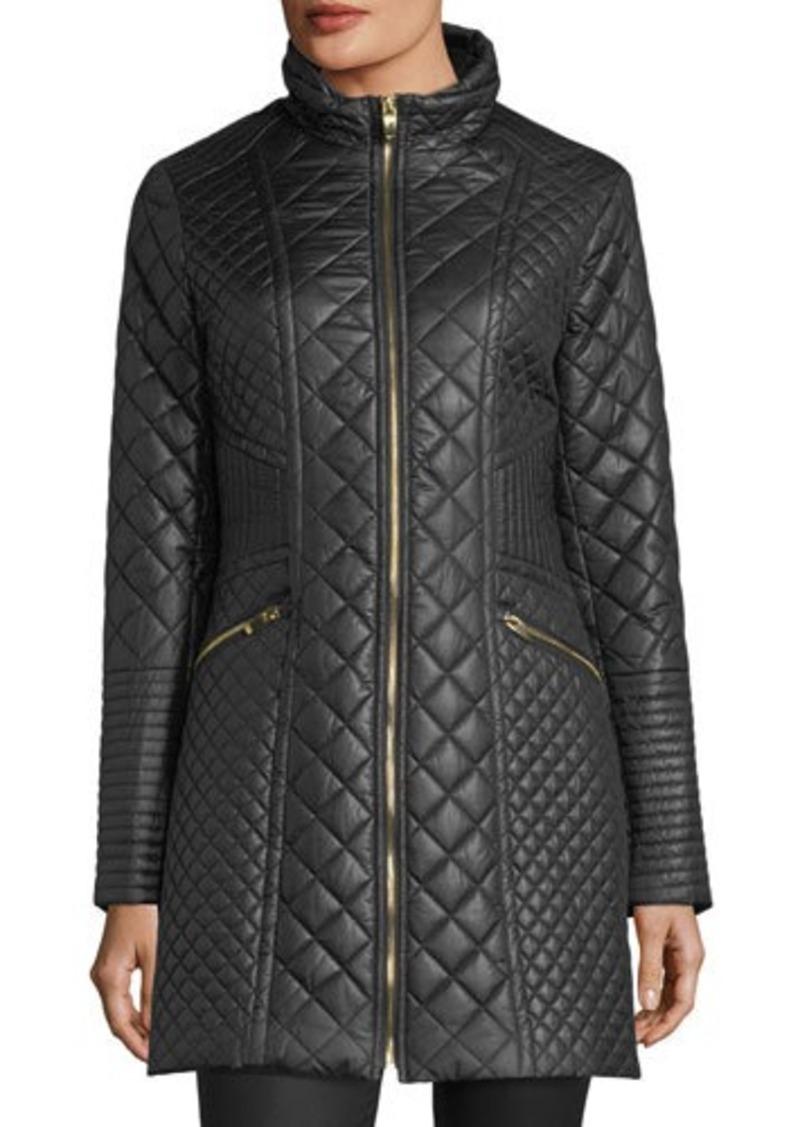 Via Spiga Via Spiga Diamond Quilted Mid Length Coat
