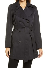 Via Spiga Double Breasted Belted Raincoat