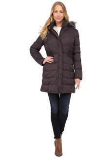 Via Spiga Down Coat w/ FF Trimmed Hood and Shirred Sides