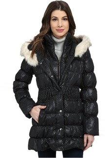 Via Spiga Down Coat w/ Winter White Faux Fur Trim