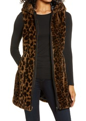 Via Spiga Faux Fur Hooded Long Vest