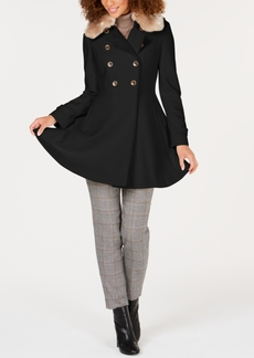 Via Spiga Faux-Fur-Trim Peacoat