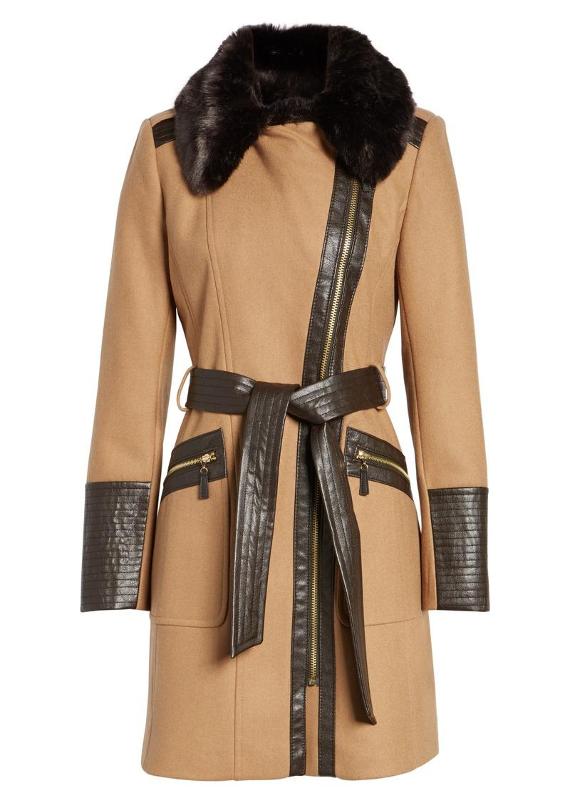 74e0eb17a73 On Sale today! Via Spiga Via Spiga Faux Leather   Faux Fur Trim ...