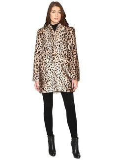 Via Spiga Front Zip Faux Fur Party Coat