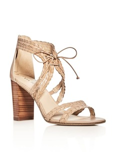 Via Spiga Gardenia Lace Up High Heel Sandals