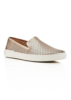 Via Spiga Gianna Perforated Metallic Leather Slip-On Sneakers - 100% Exclusive