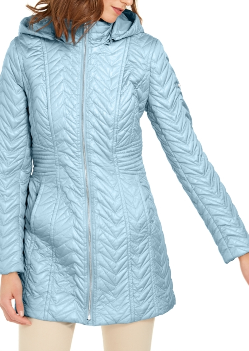 Via Spiga Petite Hooded Quilted Jacket