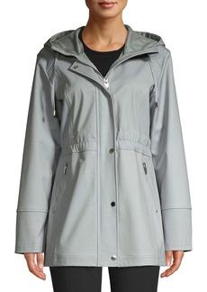 Via Spiga Hooded Zip Front Jacket