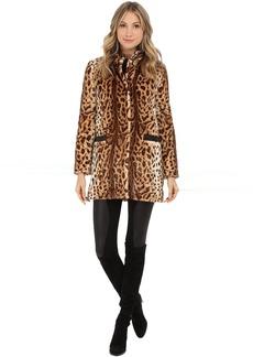 Via Spiga Jaguar Faux Fur Coat