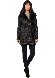 Via Spiga Kate Middleton Down Coat w/ Faux Fur