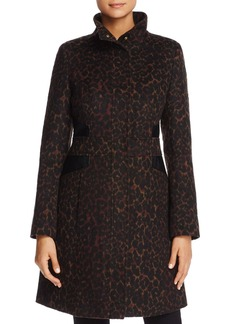 Via Spiga Leopard Print Coat - 100% Exclusive