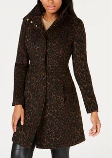 Via Spiga Leopard-Print Coat