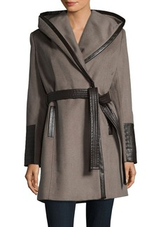 Via Spiga Lux Oversized Wrap Coat