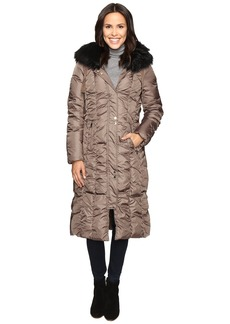 Via Spiga Maxi Coat with Rouching Detail