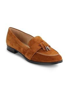 Via Spiga Moc Toe Leather Loafers