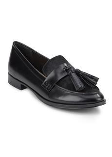 Via Spiga Moc Toe Cow Hair Slip-On Loafers