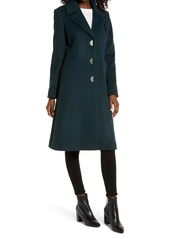 Via Spiga Notch Collar Wool Blend Coat