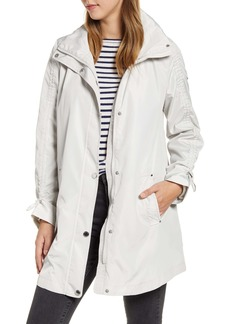 Via Spiga Packable Hooded Raincoat