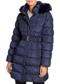 Via Spiga Pillow Collar Ruched Puffer Coat