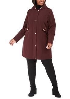 Via Spiga Plus Size Hooded Raincoat