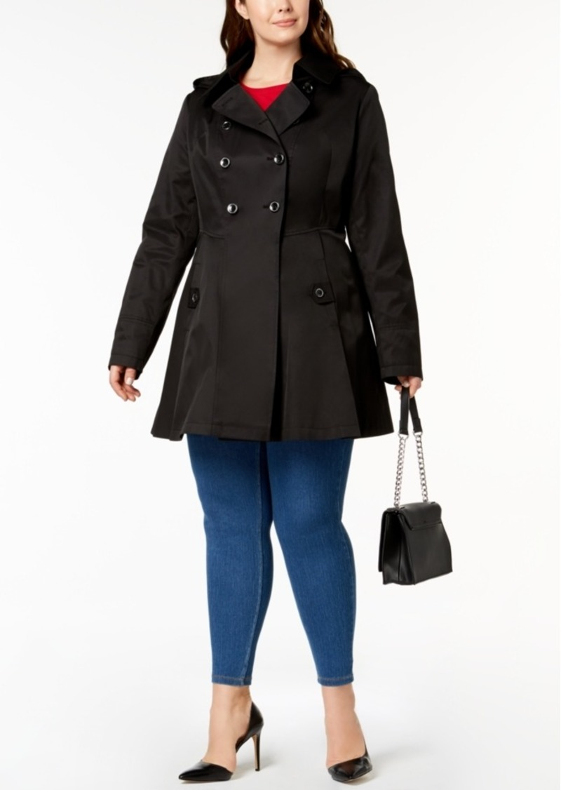 2a83cbc7637 Via Spiga Via Spiga Plus Size Waterproof Skirted Trench Coat Now  139.99