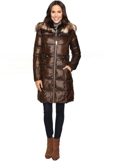 Via Spiga Polyfill Front Zip Coat