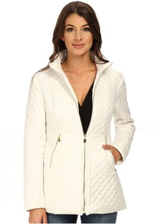 Via Spiga Quilt with Stand Collar and Front Zip