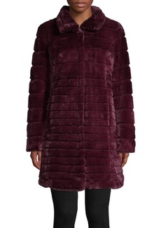Via Spiga Quilted Faux Fur Jacket