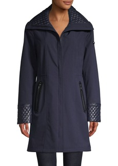 Via Spiga Quilted Full-Zip Coat