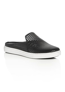 Via Spiga Rina Leather Perforated Mule Sneakers