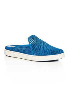 Via Spiga Rina Suede Perforated Mule Sneakers