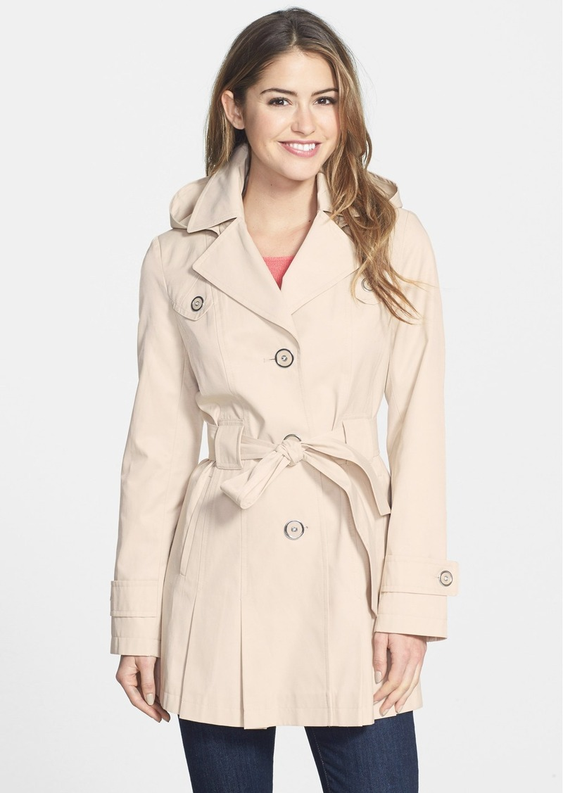 Via Spiga 'Scarpa' Single Breasted Hooded Trench (Regular & Petite)