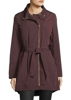 Via Spiga Self-Packable Rain Jacket