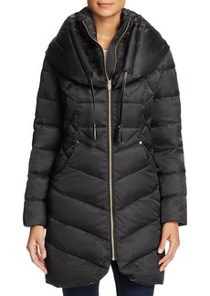 Via Spiga Shawl Collar Puffer Coat