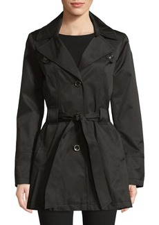 Via Spiga Single Breasted Pleated Trench Coat