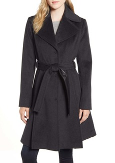 Via Spiga Single Breasted Wool Blend Trench Coat