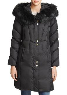 Via Spiga Smocked Waist Puffer Coat