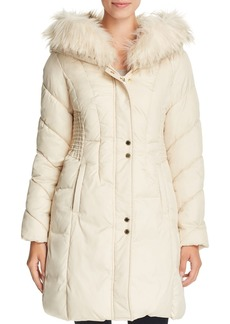 Via Spiga Smocked Waist Puffer Coat
