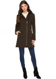 Via Spiga Soft Shell Military Asymmetrical Zip